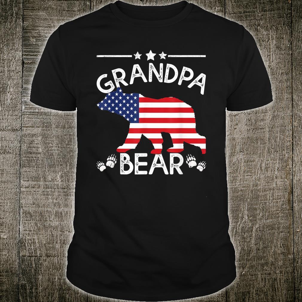 American Flag Grandpa Bear 4th of July shirt Father day Shirt