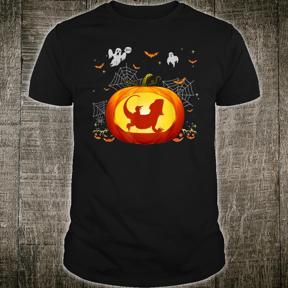 Bearded Dragon Halloween Shirt Pumpkin Outfit Shirt