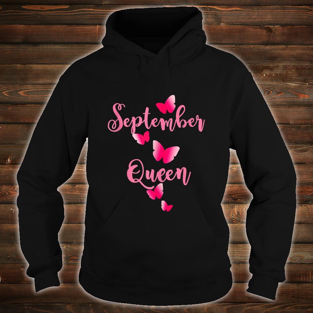 Birthday Shirt September Birthday Queen Shirt hoodie
