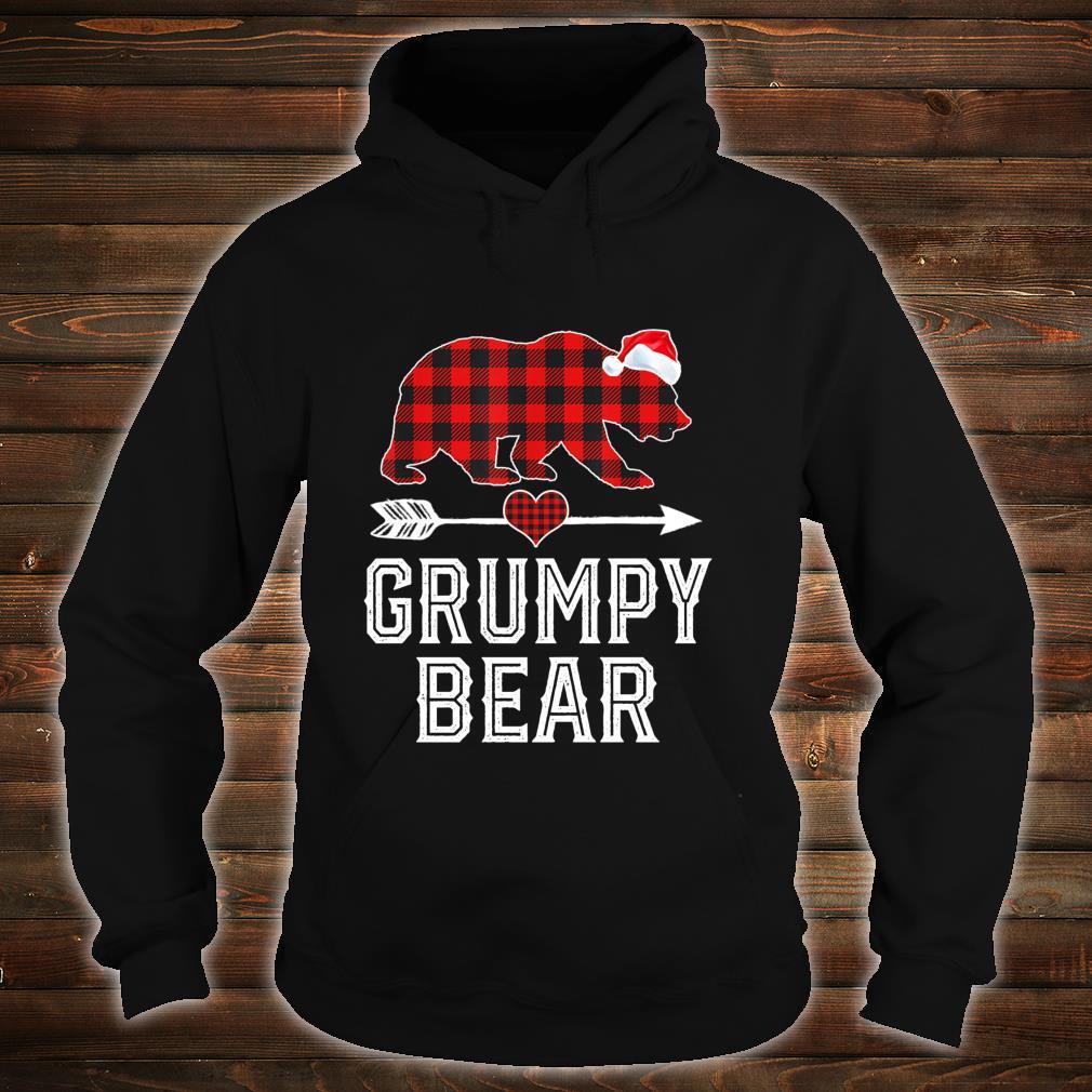 Grumpy Bear Christmas Pajama Red Plaid Buffalo Family Shirt hoodie