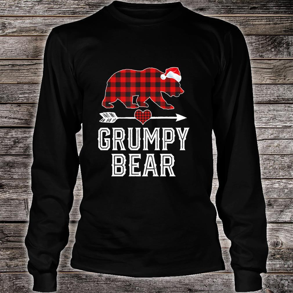 Grumpy Bear Christmas Pajama Red Plaid Buffalo Family Shirt long sleeved