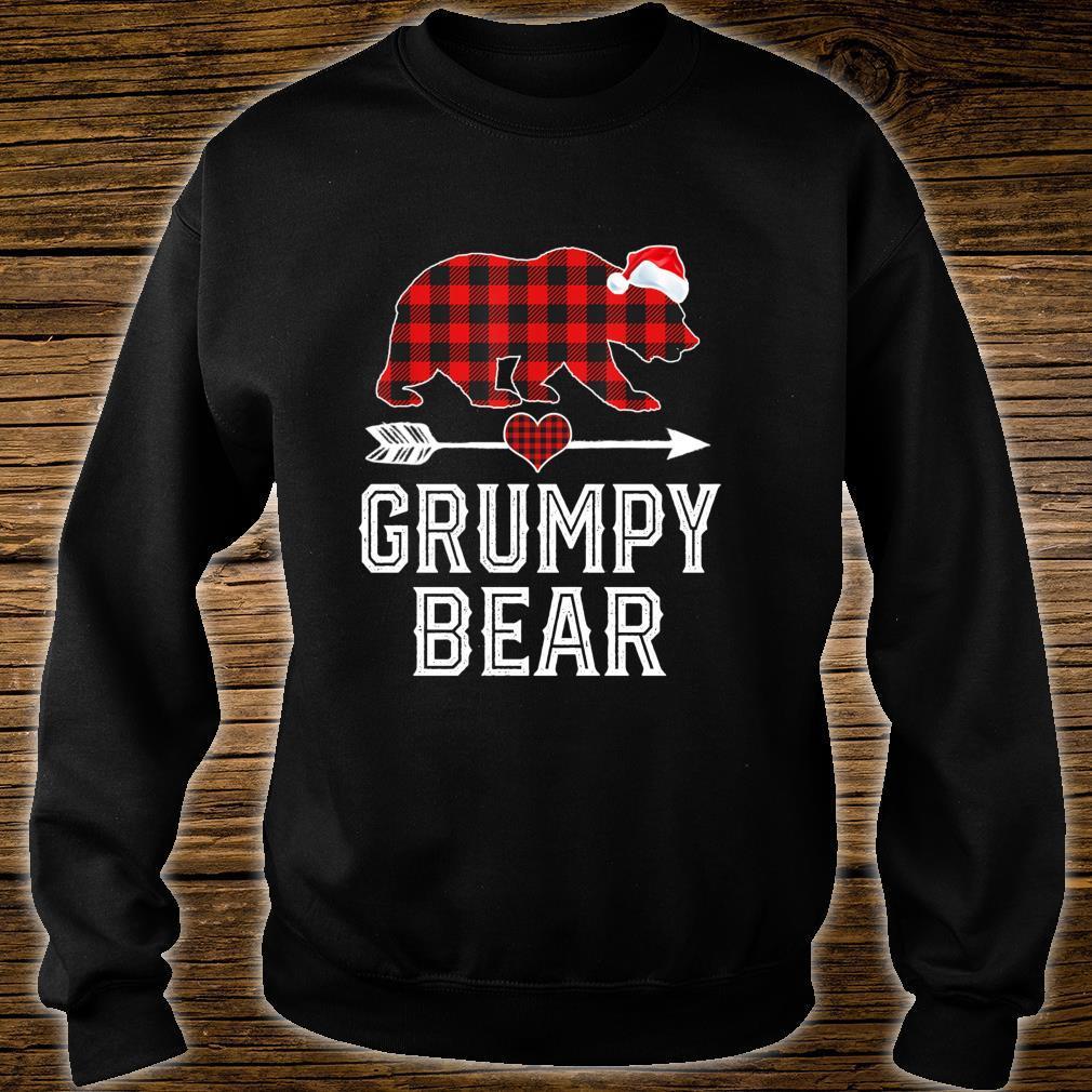 Grumpy Bear Christmas Pajama Red Plaid Buffalo Family Shirt sweater