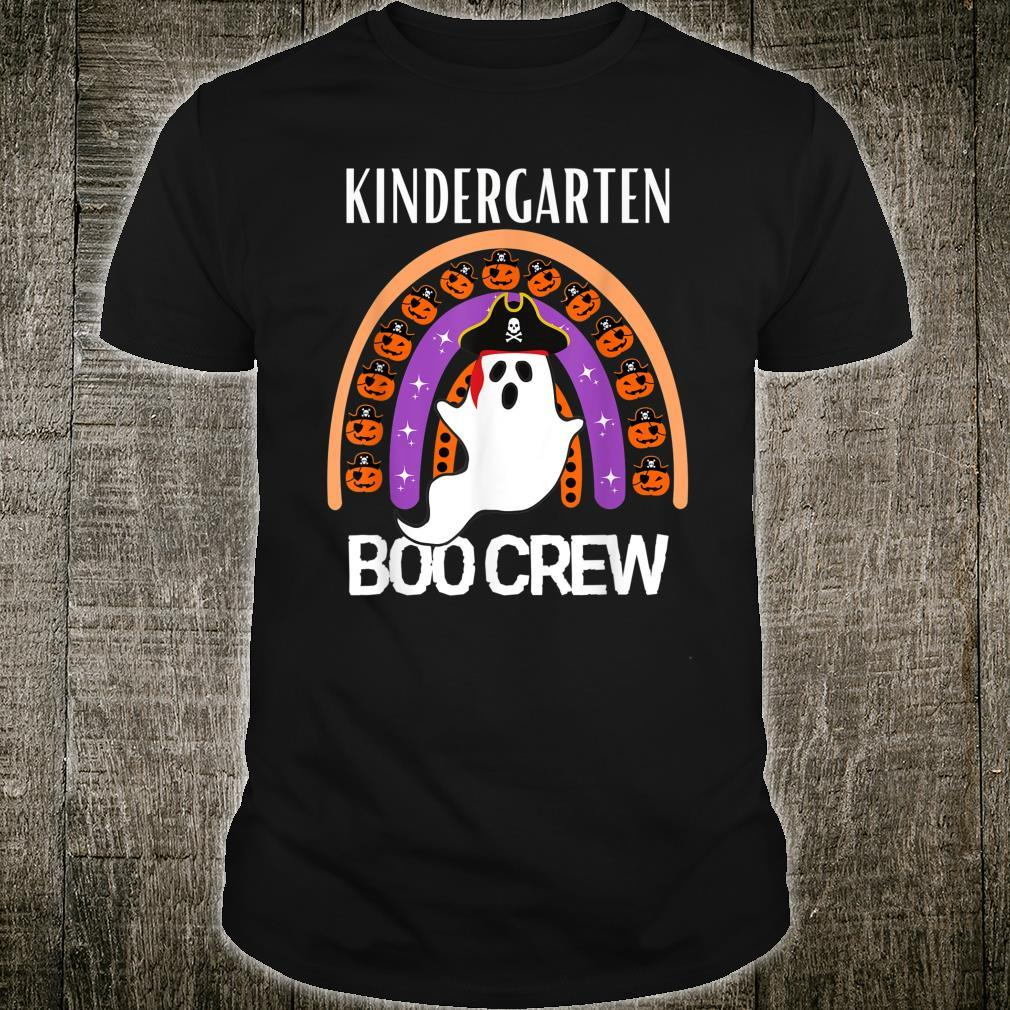 Halloween Boo Crew Rainbow Pirate kindergarten Teacher Teams Shirt
