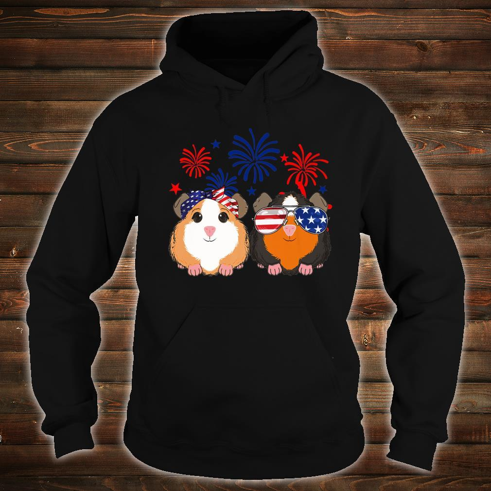 Happy Independence Day 4th of july GUINEA PIG cute Shirt hoodie