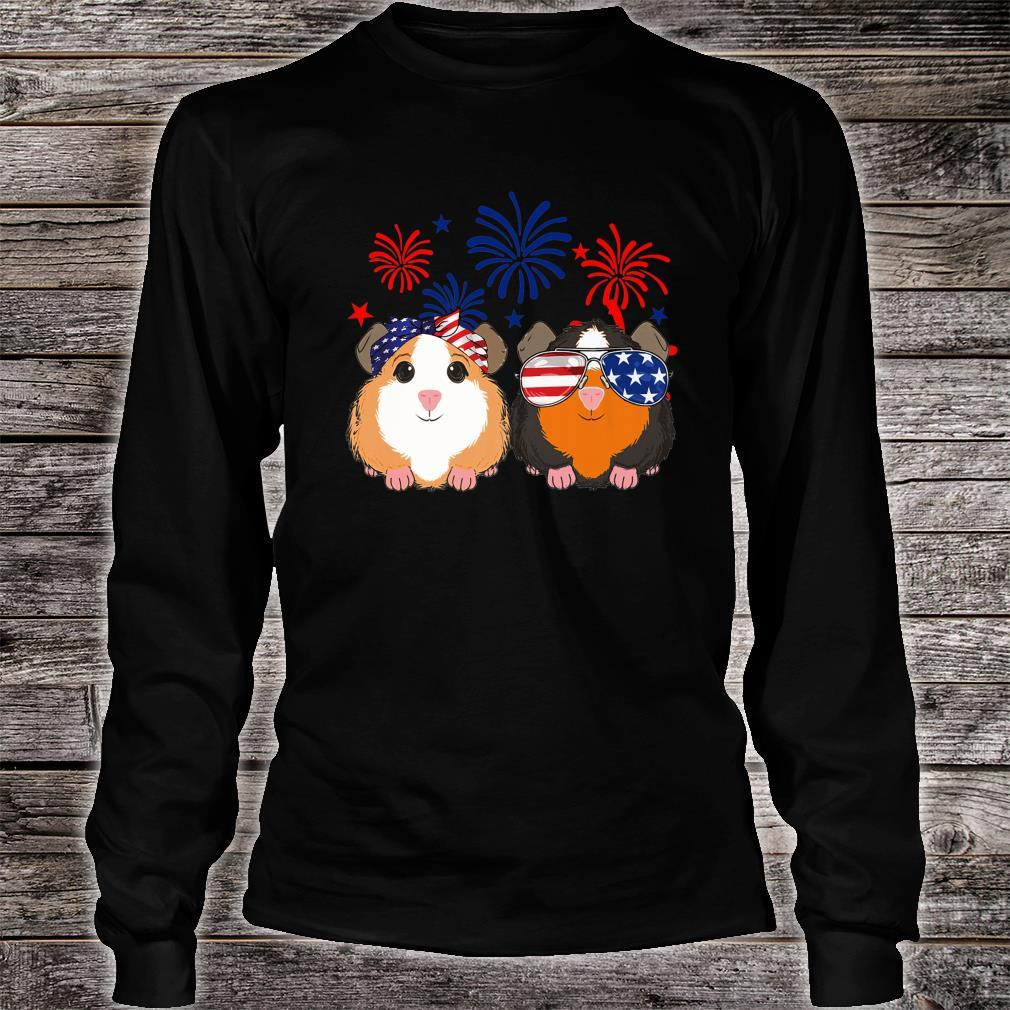 Happy Independence Day 4th of july GUINEA PIG cute Shirt long sleeved