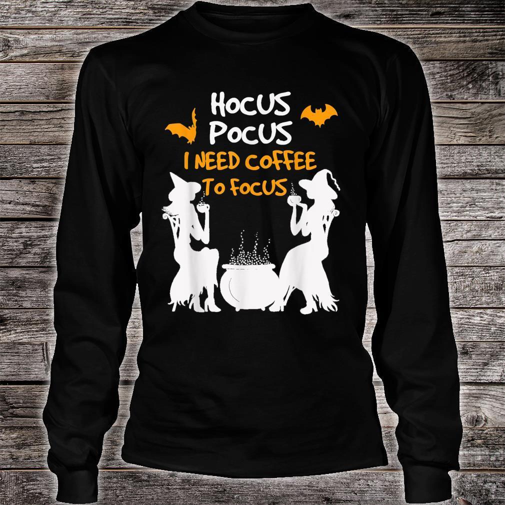 HocusPocus I Need Coffee To Focus HalloweenwomenKid Shirt long sleeved