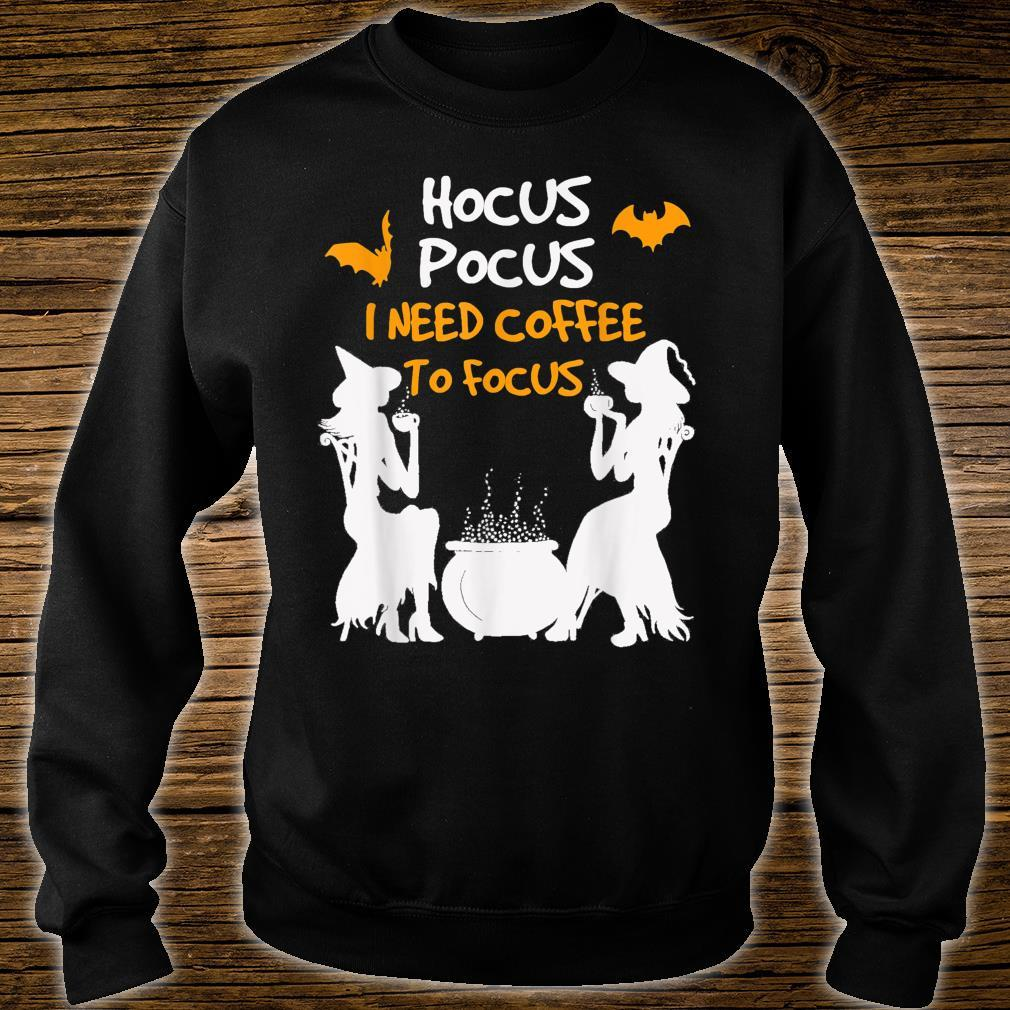 HocusPocus I Need Coffee To Focus HalloweenwomenKid Shirt sweater