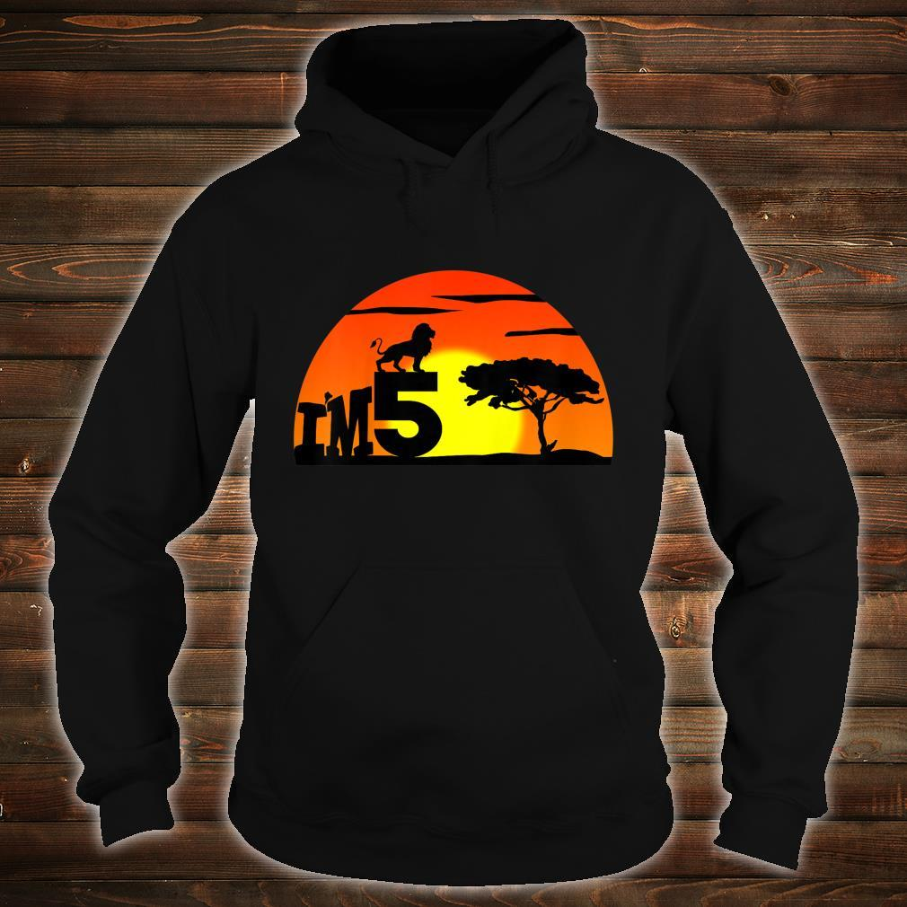 Kids Birthday 5th The king of jungle. Five years old Shirt hoodie