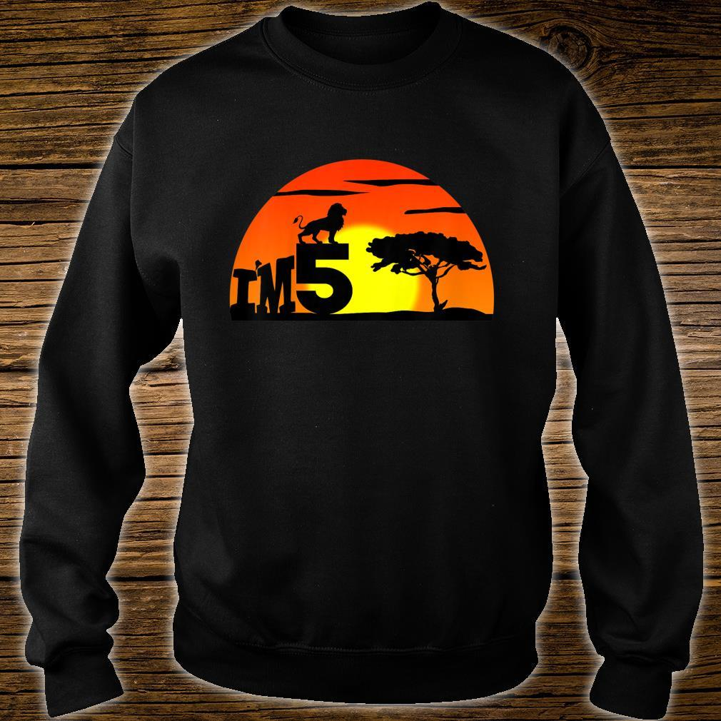 Kids Birthday 5th The king of jungle. Five years old Shirt sweater