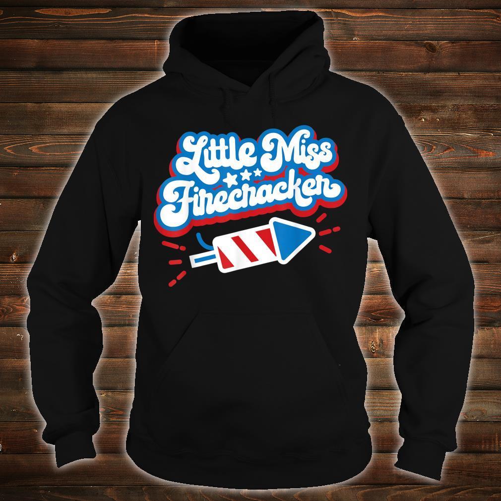 Little Miss Firecracker Independence Day Shirt hoodie