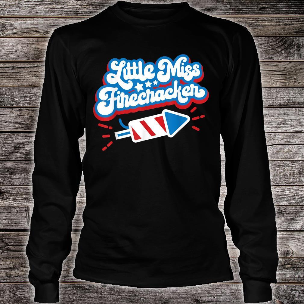 Little Miss Firecracker Independence Day Shirt long sleeved