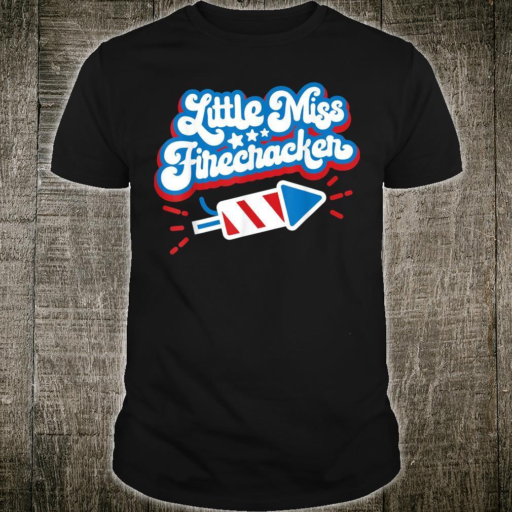 Little Miss Firecracker Independence Day Shirt