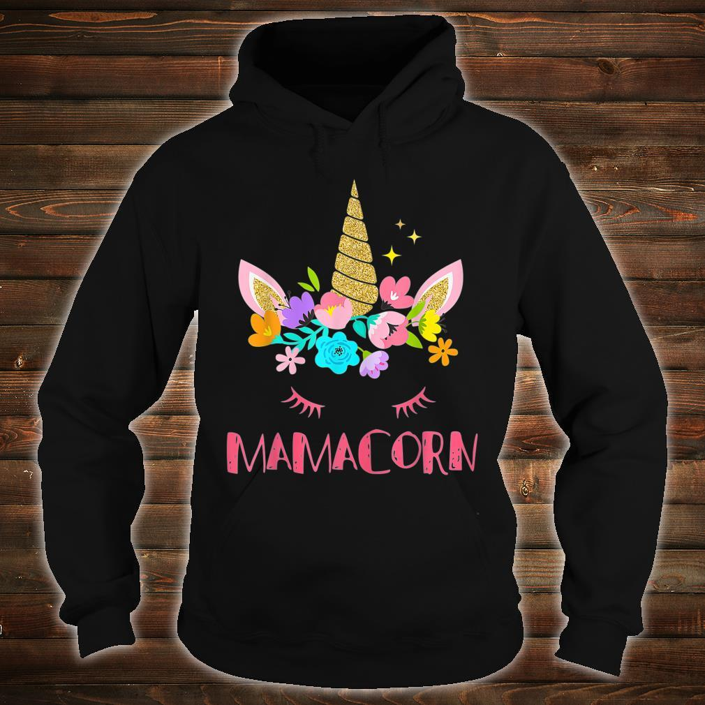 Mamacorn Unicorn Costume Mom Mother's Day Shirt hoodie