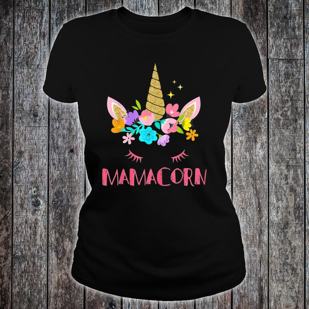 Mamacorn Unicorn Costume Mom Mother's Day Shirt ladies tee