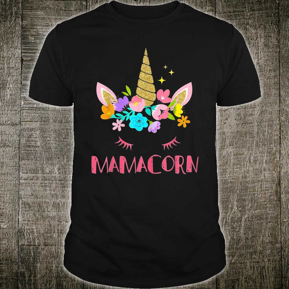 Mamacorn Unicorn Costume Mom Mother's Day Shirt