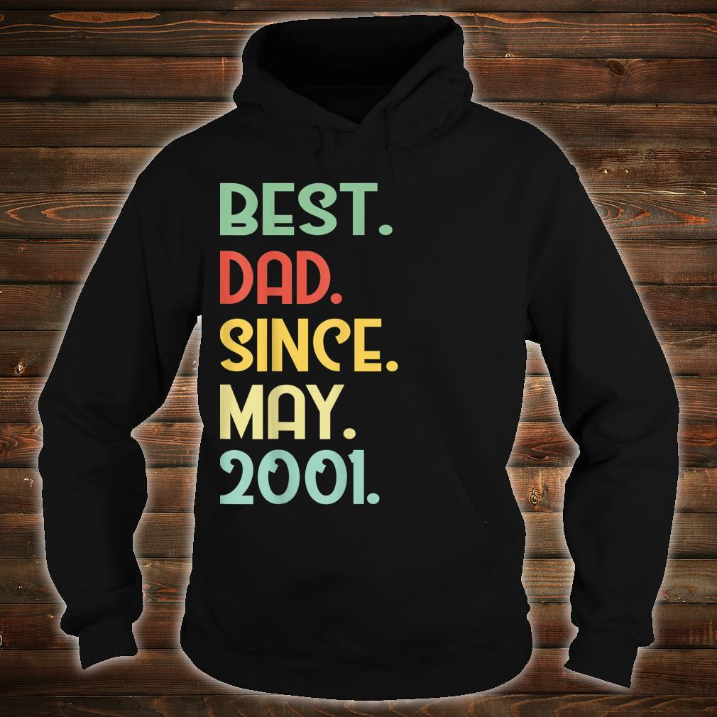 Mens Vintage Best Dad Since May 2001 18th Proud Father Day shirt hoodie