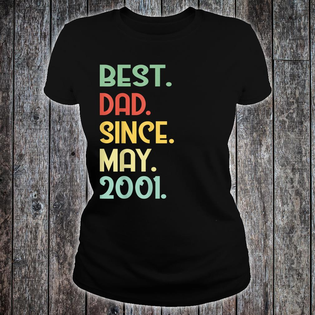 Mens Vintage Best Dad Since May 2001 18th Proud Father Day shirt ladies tee