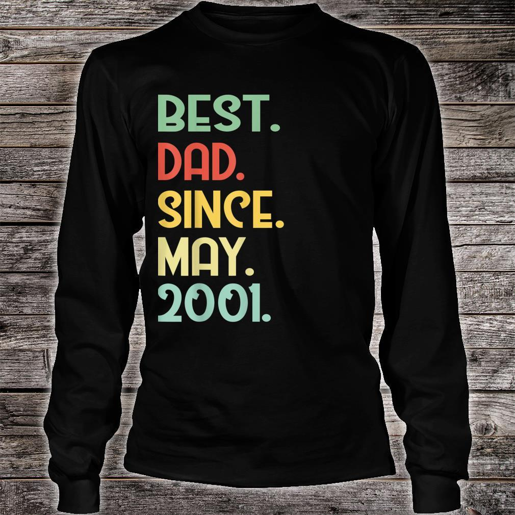 Mens Vintage Best Dad Since May 2001 18th Proud Father Day shirt long sleeved