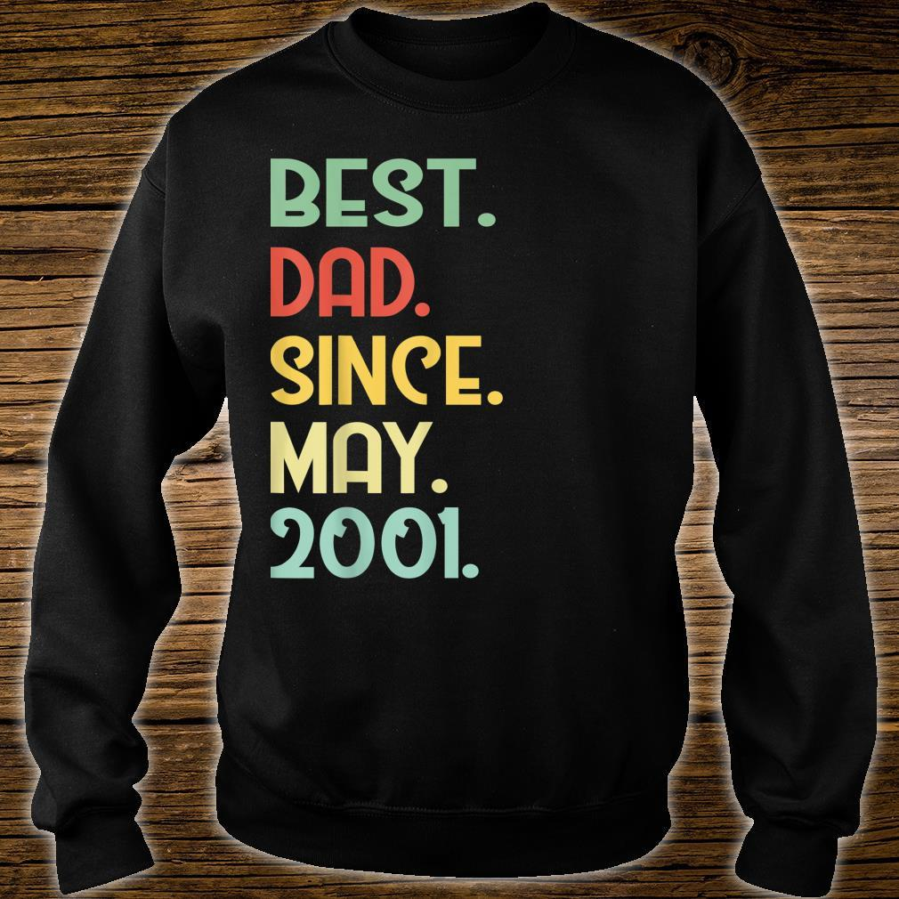 Mens Vintage Best Dad Since May 2001 18th Proud Father Day shirt sweater