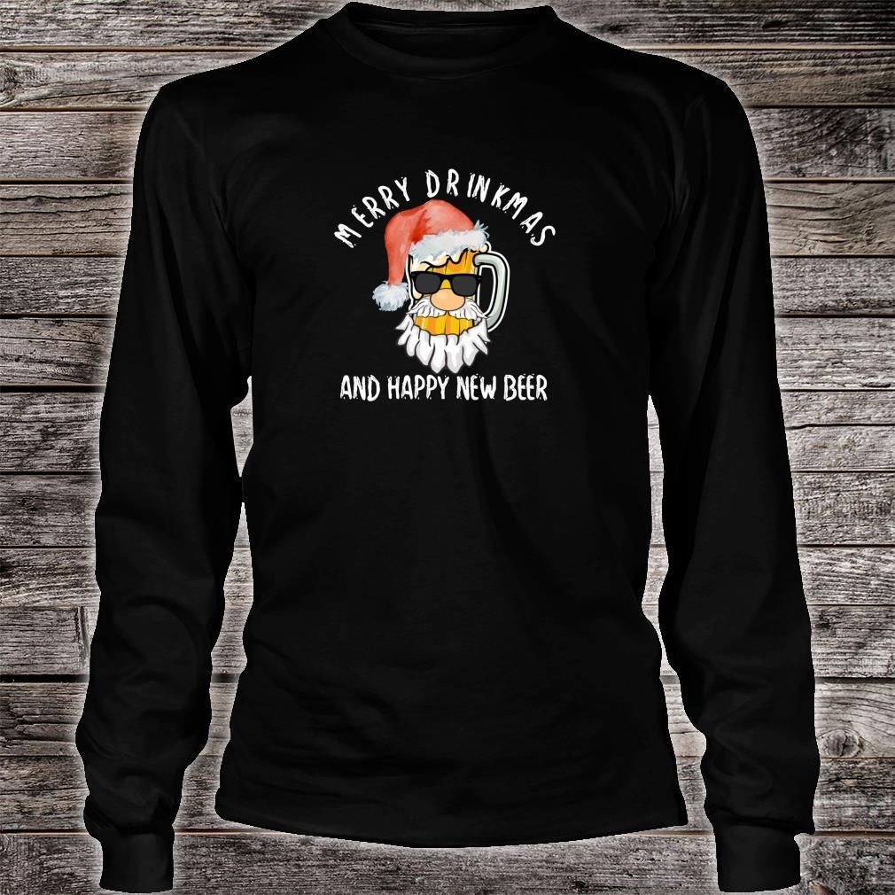 Merry Drinkmas Shirt Beer Alcohol Quote Christmas Shirt long sleeved