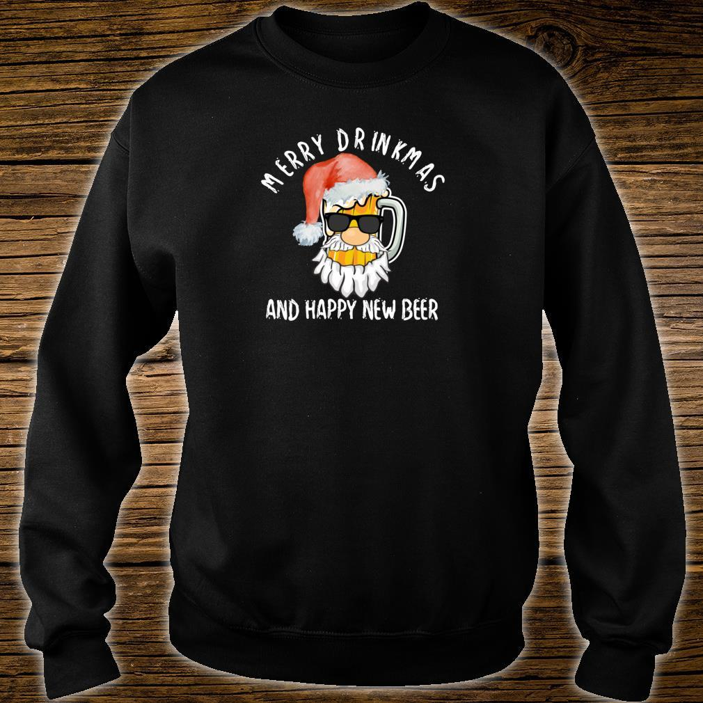 Merry Drinkmas Shirt Beer Alcohol Quote Christmas Shirt sweater