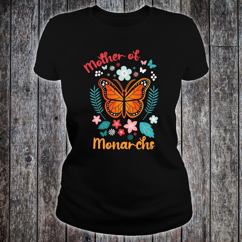 Mother's Day Queen Moms Mother of Monarchs Powerful Shirt ladies tee