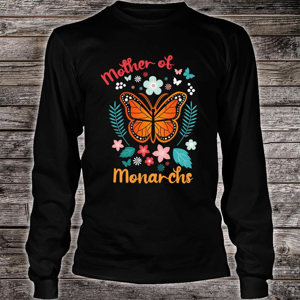 Mother's Day Queen Moms Mother of Monarchs Powerful Shirt long sleeved