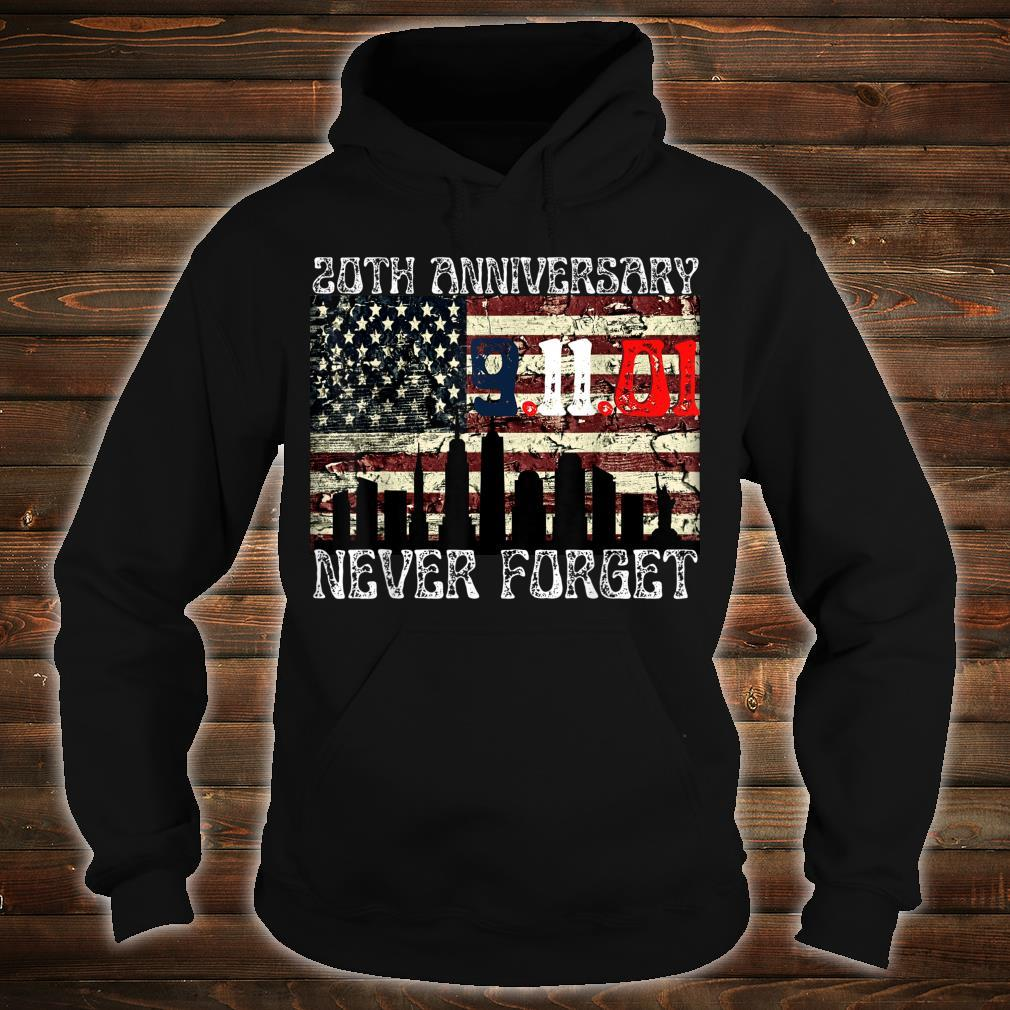 Never Forget 911 20th Anniversary Patriot Day American Flag Shirt hoodie
