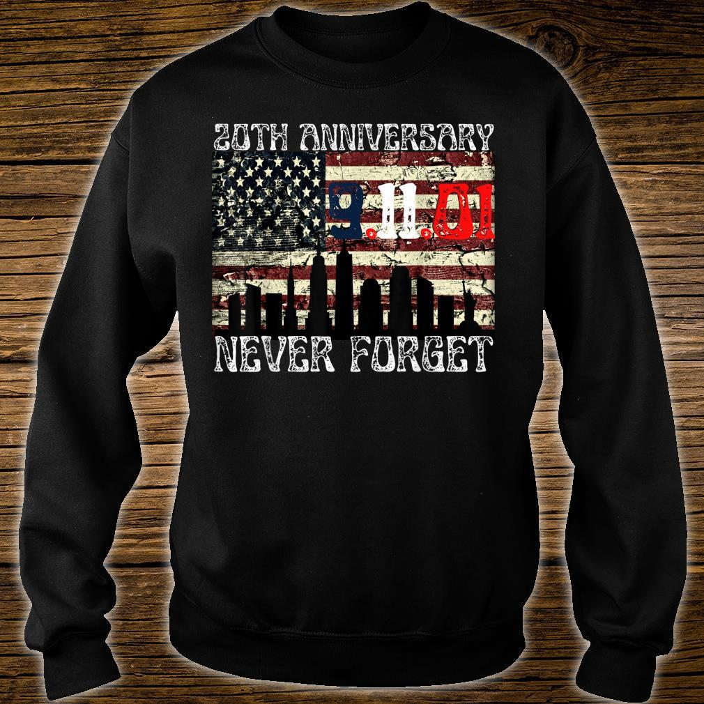 Never Forget 911 20th Anniversary Patriot Day American Flag Shirt sweater