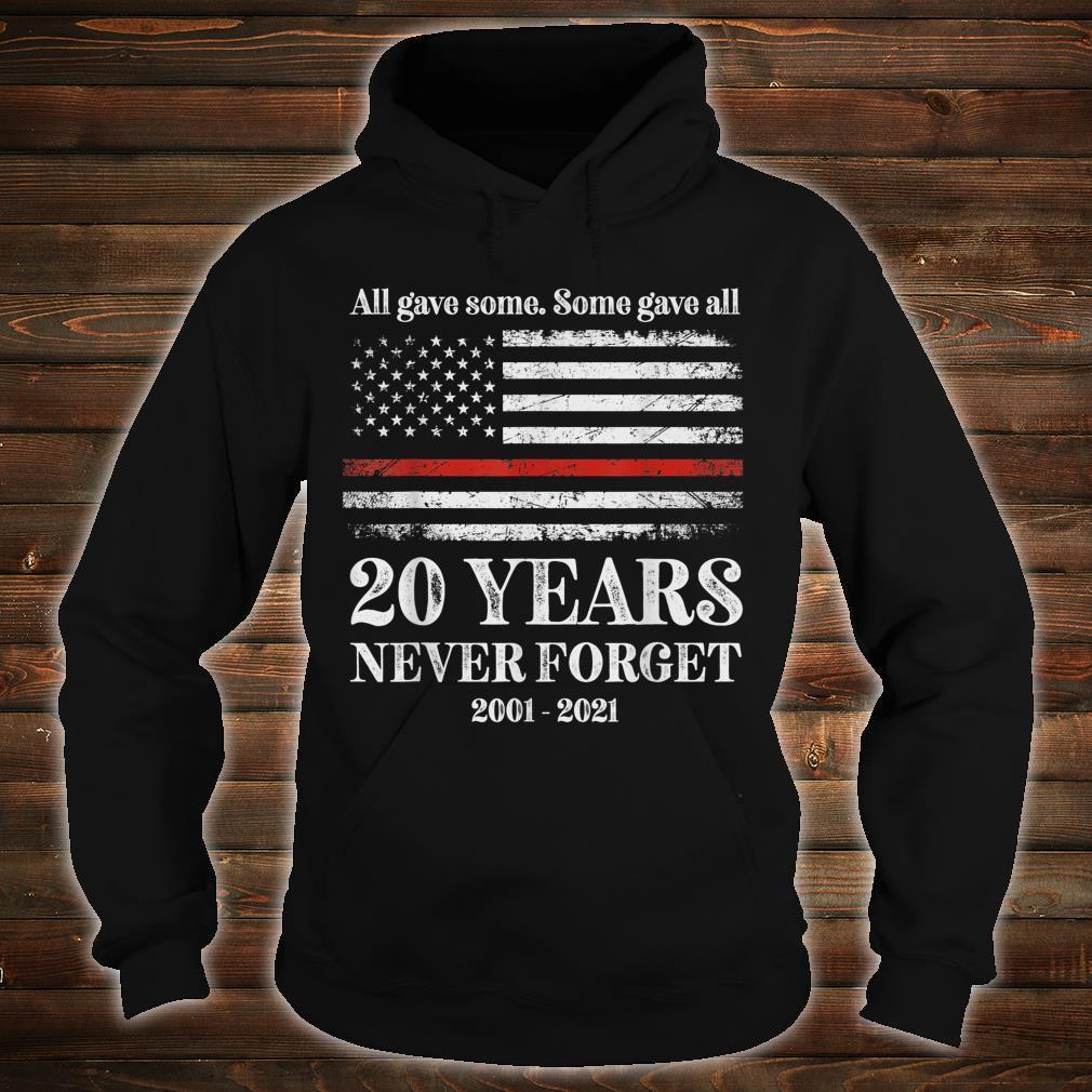 Patriot day 2021 shirt USA flag red line firefighter fireman Shirt hoodie