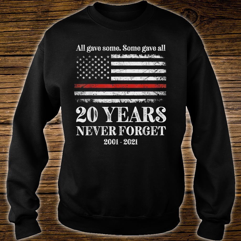 Patriot day 2021 shirt USA flag red line firefighter fireman Shirt sweater