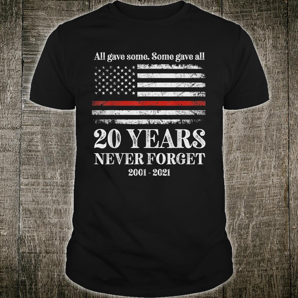 Patriot day 2021 shirt USA flag red line firefighter fireman Shirt