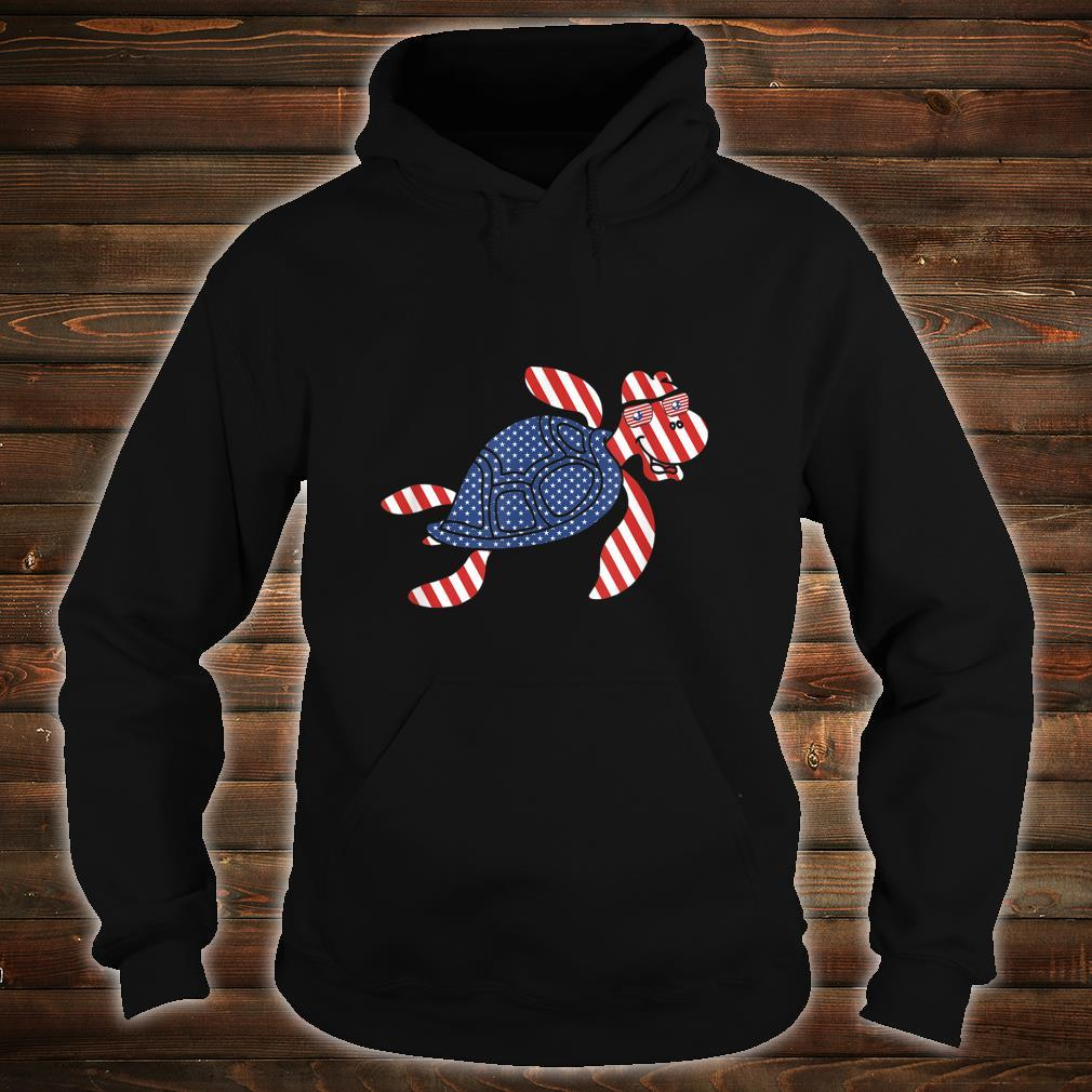 Patriotic Turtle 4th of July Independence Day Shirt hoodie
