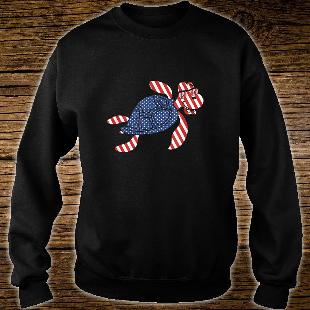 Patriotic Turtle 4th of July Independence Day Shirt sweater