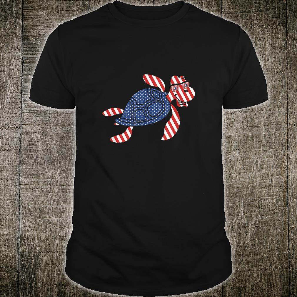 Patriotic Turtle 4th of July Independence Day Shirt