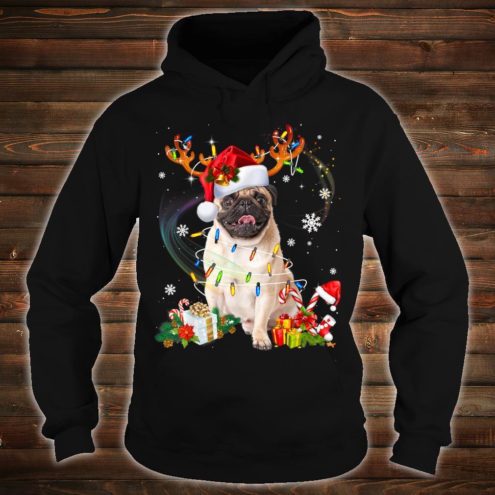 Pug Dog Santa Reindeer Christmas Family Pajamas Dogs Xmas Shirt hoodie