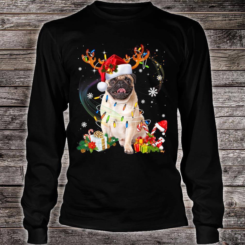 Pug Dog Santa Reindeer Christmas Family Pajamas Dogs Xmas Shirt long sleeved