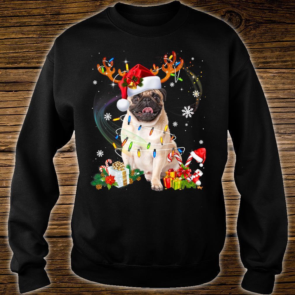 Pug Dog Santa Reindeer Christmas Family Pajamas Dogs Xmas Shirt sweater
