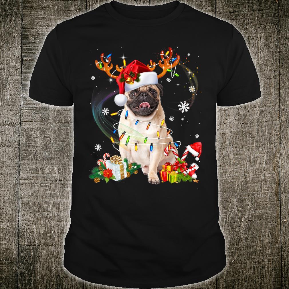 Pug Dog Santa Reindeer Christmas Family Pajamas Dogs Xmas Shirt