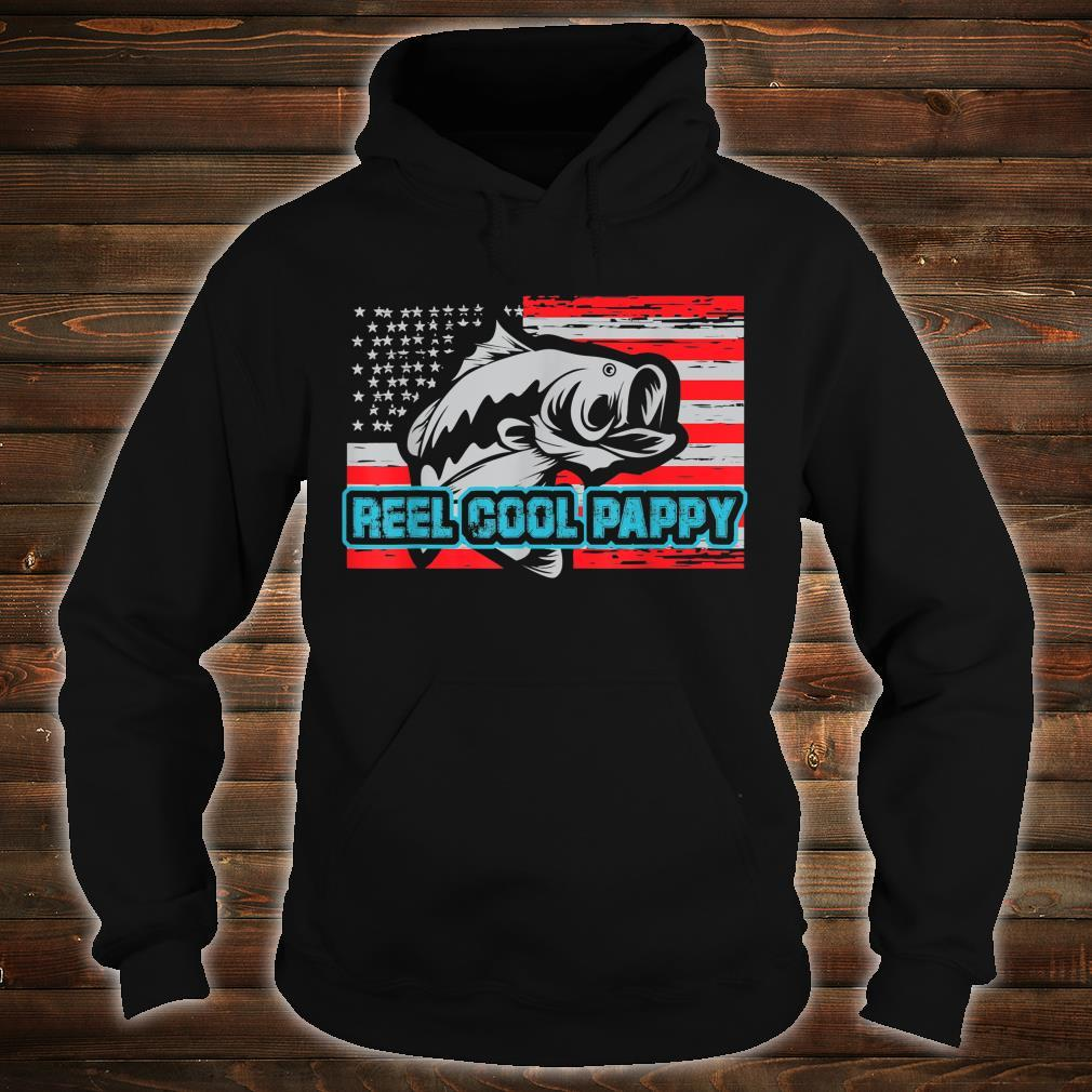 Reel Cool Pappy Shirt USA Flag Fishing For Father Day Shirt hoodie