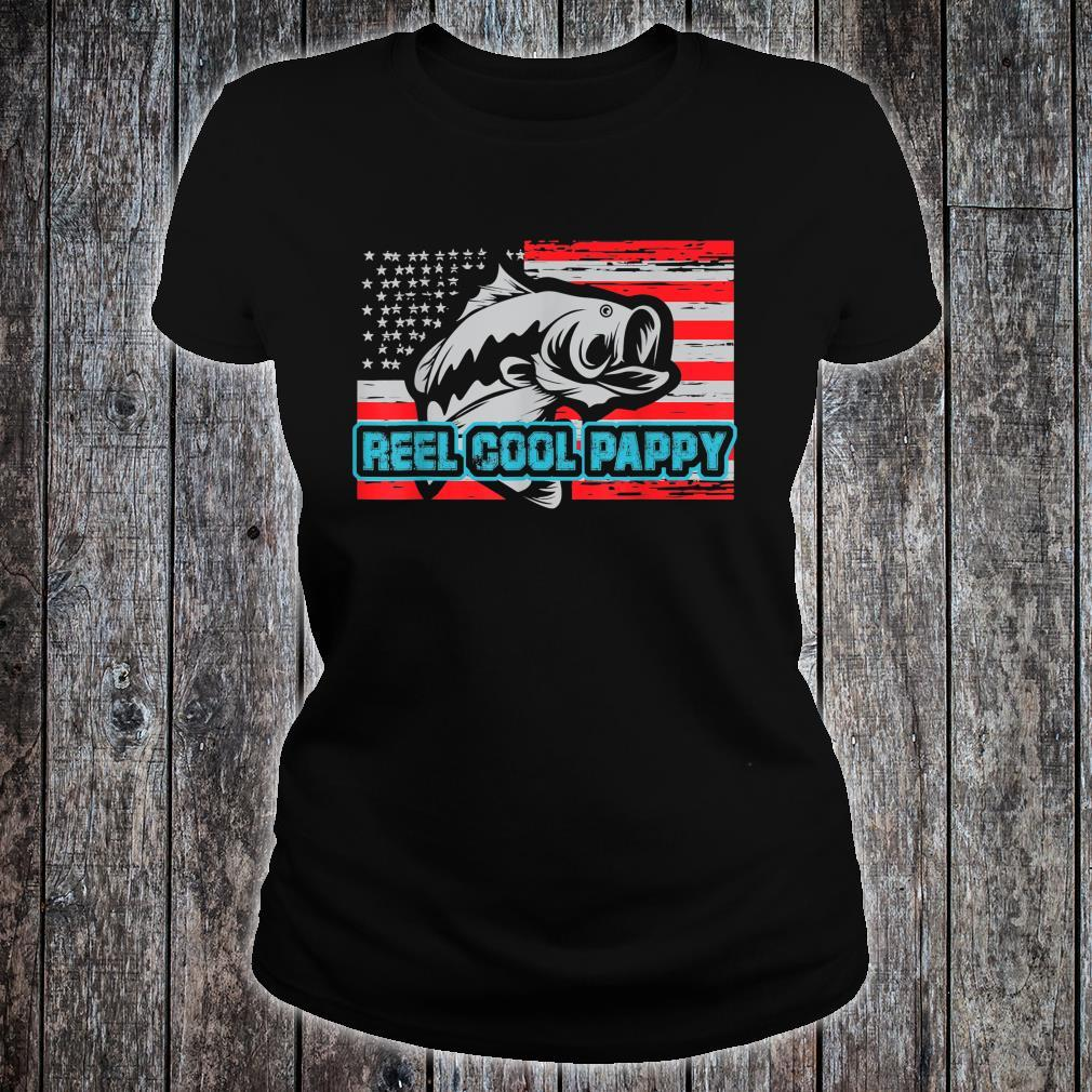 Reel Cool Pappy Shirt USA Flag Fishing For Father Day Shirt ladies tee