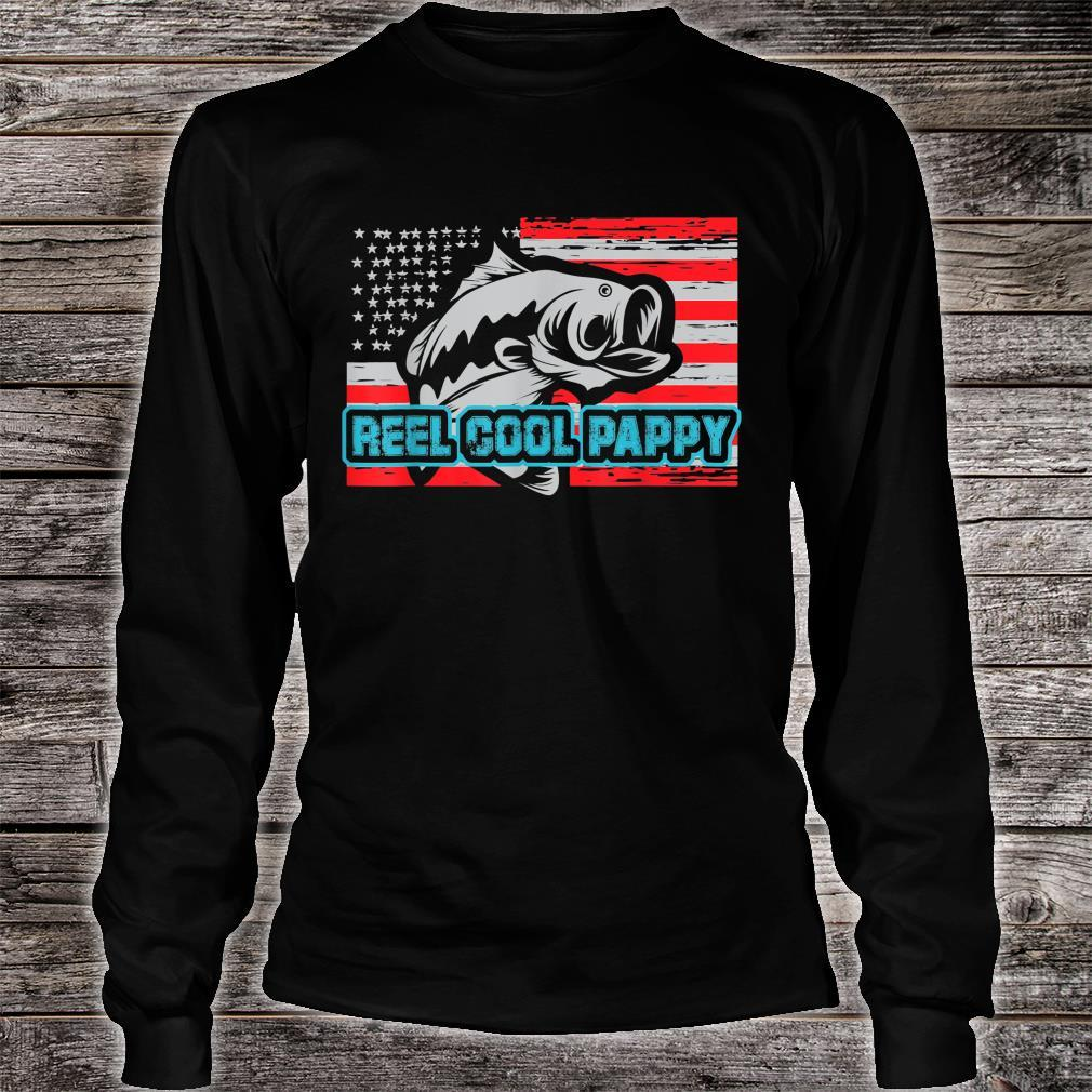 Reel Cool Pappy Shirt USA Flag Fishing For Father Day Shirt long sleeved