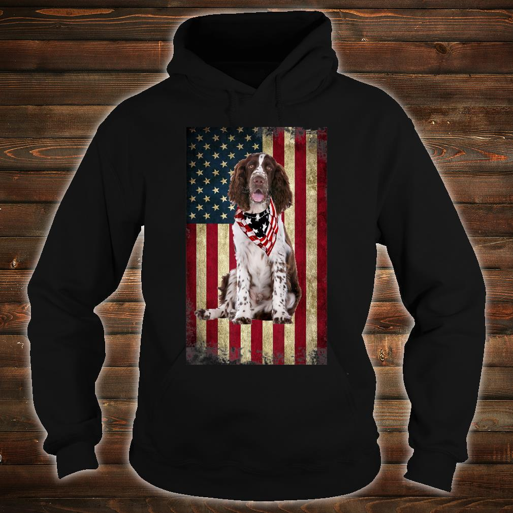 Springer Spaniel America Flag 4th Of July Independence Day Shirt hoodie