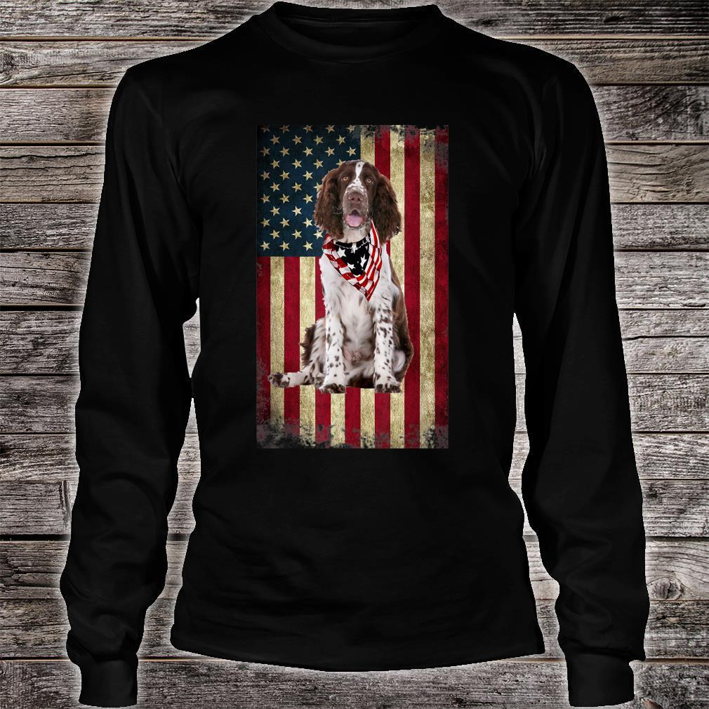 Springer Spaniel America Flag 4th Of July Independence Day Shirt long sleeved