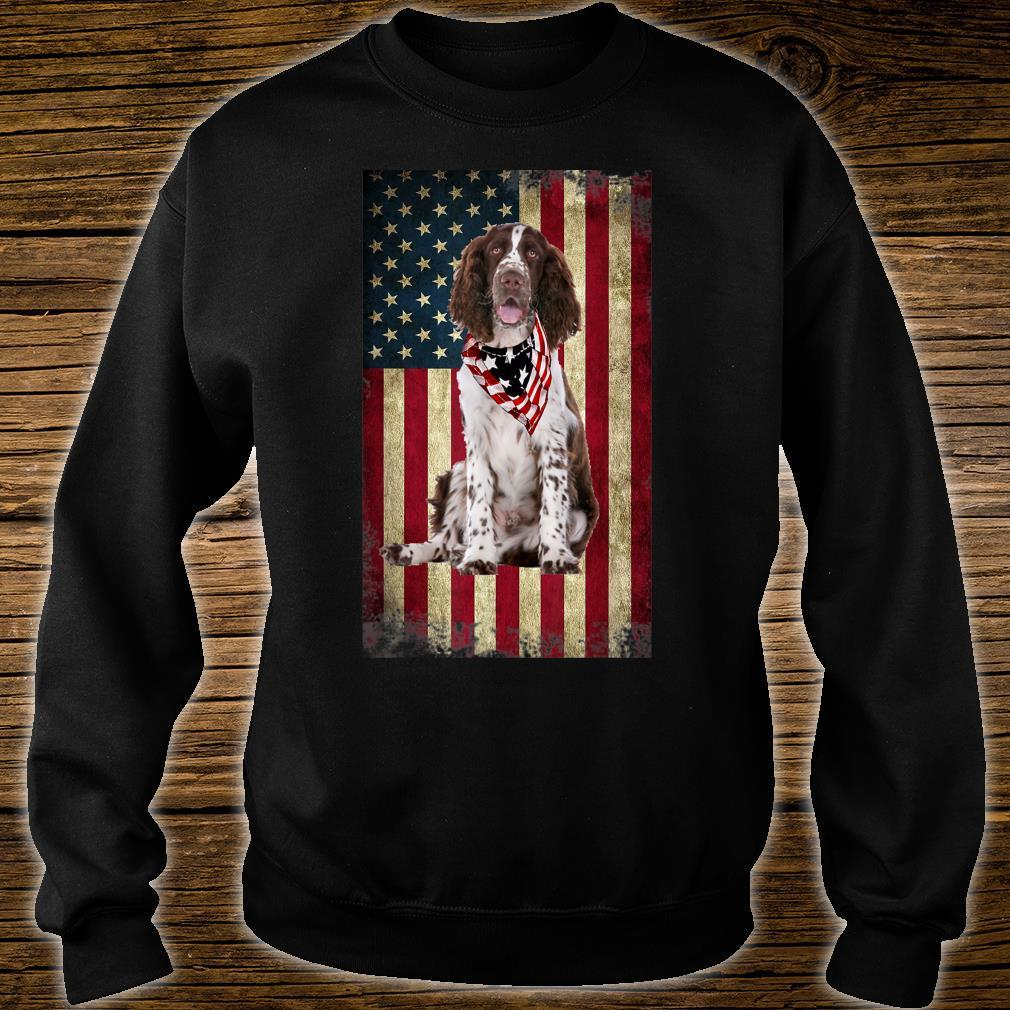 Springer Spaniel America Flag 4th Of July Independence Day Shirt sweater