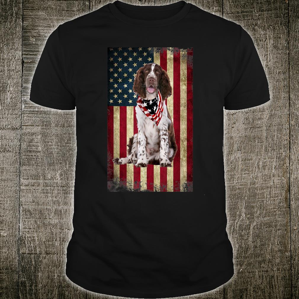 Springer Spaniel America Flag 4th Of July Independence Day Shirt