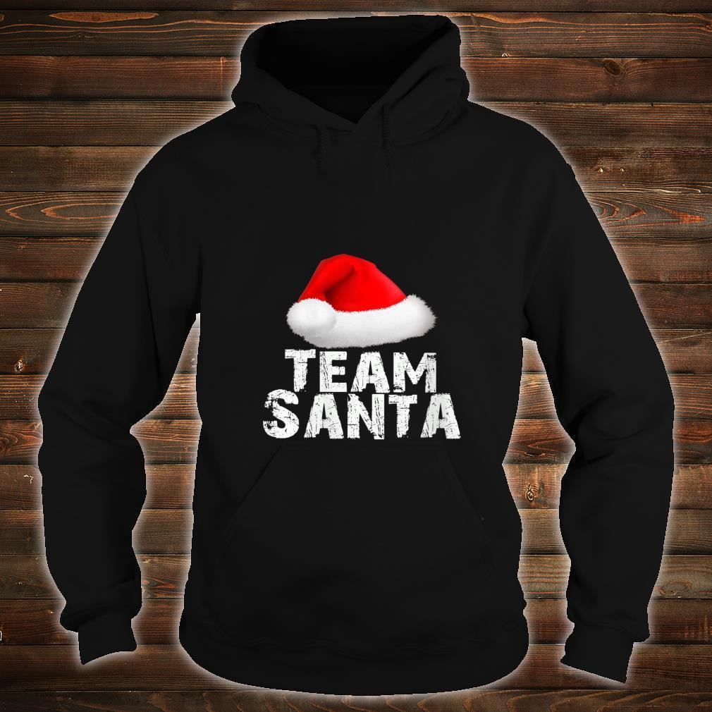 Team Santa Christmas Holiday Matching Pajama Shirt hoodie