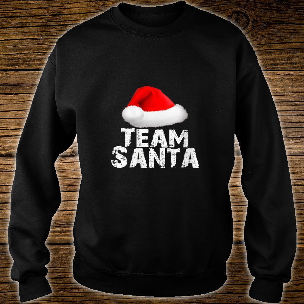 Team Santa Christmas Holiday Matching Pajama Shirt sweater