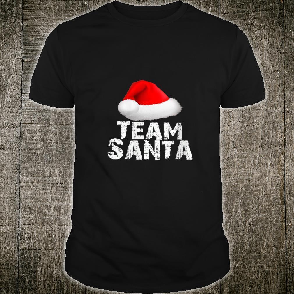 Team Santa Christmas Holiday Matching Pajama Shirt