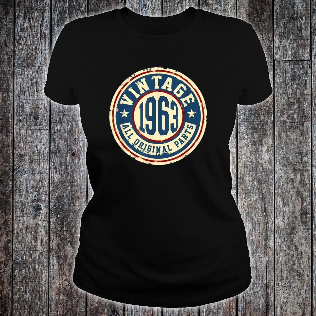 Vintage 1963 Original Parts Shirt 56th Birthday Shirt ladies tee